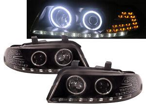 A4/S4 B5 8D 94-98 PRE-FACELIFT 4D/5D CCFL Projector Headlight BK US for AUDI RHD