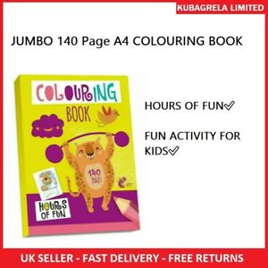 JUMBO 140 Page A4 COLOURING BOOK - KIDS BORED CHILDREN HOME OFF SCHOOL ISOLATE