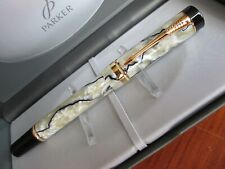 Parker Duofold International Fountain Pen - Pearl and Black design - NEW