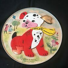Vintage Teach-A-Tot Toy Magnetic Tray Puzzle 11 Pc Puppy Dog T6560