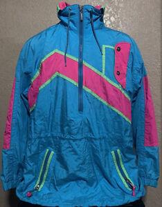 Vintage Ossi Skiwear Men's Size Large 1/2 Zip Retro Bright Color Ski Jacket L