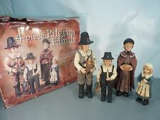 LARGE 4 Piece PILGRIM FAMILY Thanksgiving Holiday Fall Harvest Display Costco