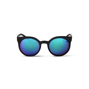 CHEAPO NEW Mens Black Cheapo Padang Sunglasses - Black / Blue Mirror BNWT