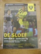 24/02/2017 VVV Venlo v Achilles  . Thanks for viewing our item, buy with confide