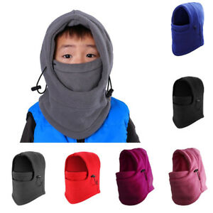Azarxis Kids Childrens Balaclava Hat Fleece Ski Face Mask Winter Cap Adjustable Double Neck Warmer