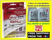FULL CRYSTAL Window Cleaner REFILL Fuller Brush AS SEEN ON TV - BUY MORE & SAVE!