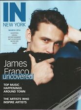JAMES FRANCO the star of SPIDER-MAN trlogy cover story IN NEW YORK mag 2014