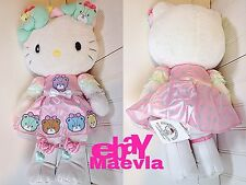 "Hello Kitty 40th Arigato Everyone Tiny Chum 19.7"" 50cm Plush Dolls Sanrio 2014"
