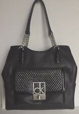 NWT Calvin Klein Rachel Center Zip Hobo Carryall Handbag Black
