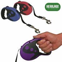 Heritage Deluxe Dog Lead Tape Retractable Extendable Leash 5M Pet Training 16FT