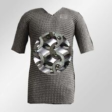 Medieval Stainless Steel Chainmail Shirt FLAT RIVETED Chain mail Reenactment