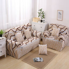 Arm Sofa Slipcover 1 Seater Couch Stretch Cover Washable Easy Fit Stripe #2