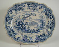 Goodwin Bridgewood & Orton.'Oriental Flower Garden' pearlware platter 1828