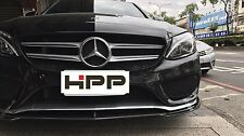 Carbon Fiber VR Front Spoiler Lip for Mercedes W205 C-Class Sedan AMG Bumper