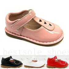 KIDS BABY INFANTS GIRLS T-BAR SPANISH FLAT WEDDING PARTY PATENT TODDLER SHOES