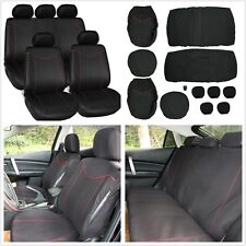 Full Set 5-Seats Car Seat Cover Front & Rear Cushion Protector Four Seasons