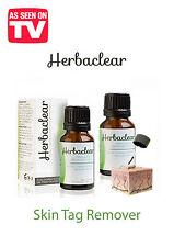 NATURAL HERBAL SKIN TAGS / WARTS/VERRUCA REMOVER/ HERBACLEAR/FORMU CLEAR/NO PAIN