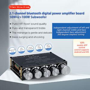 S100H/L 50WX2+100W HIFI Bluetooth 5.0 Stereo Audio Amplifier Board 2.1 Channel