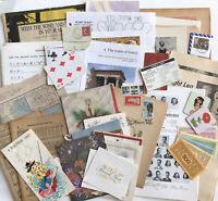 Vtg 1880s-1990s Paper Ephemera Variety Lot Junk Journal Scrapbook Collage Art
