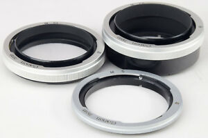 CANON FD Macro Ring Set of Four ===Mint===