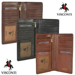 Visconti Mens Real Leather RFID Long Cash & Coin Jacket Wallet Gift Boxed TSC45