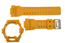 genuine Casio Watch band Strap & Bezel GLS-8900-9 yellow Rubber Set