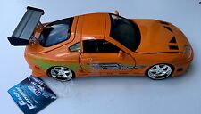 FAST AND FURIOUS BRIAN'S TOYOTA SUPRA  ORANGE JADA 1:24 SCALE