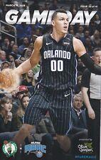 Orlando Magic NBA Basketball 2017-18 Season Gameday Booklet--A. Gordon, S. Mack