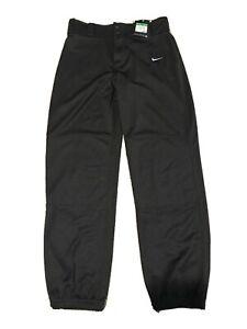 NWT Nike Black Dri-Fit Boys Core Baseball Pants Pull-On Style 629347