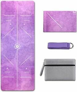 Yoga Mat Foldable 1/16 Inch Thick Non-Slip Travel Yoga Mat Cover Pad Sweat
