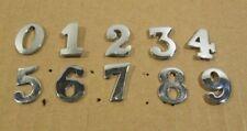 Ex British Police Chrome Numbers Pin Back 0 - 9 Number Epaulettes Uniform