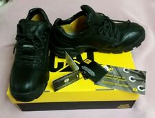 Women's  8W CAT Black Leather Safety Composite Toe Work Shoe SRX ERGO Support