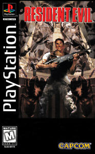 Resident Evil 1996 PlayStation 1 PS1 Cover Art Poster 12x18