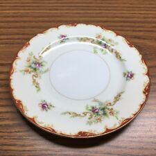 """Vintage Occupied Japan """"Mira China""""  Bread & Butter Plate    Floral Gold Trim"""