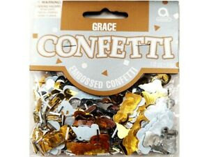 Amscan Inc Grace Confetti, Gold, Silver, White, Peace and Love #369785
