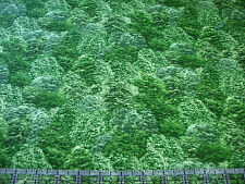 3 Yards Cotton Fabric - Fresh Water Designs Natural Elements Forest Trees Light