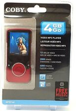 "Coby RED 4 GB Go Video MP3 Player MP707-4G w/ FM Radio 2"" Color LCD - NEW SEALED"