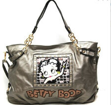 Betty Boop Pewter Bronze Leather Tote Style Shoulder Purse