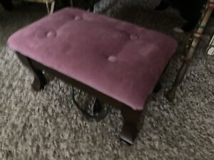 "Vintage 17""Electric Heated Ottoman Footstool"
