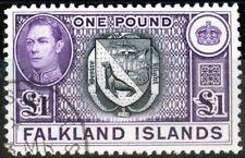 Falkland Is 1938 Black & Violet SG163 V.F.U (3)