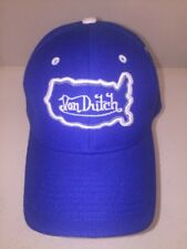 Von Dutch Baseball Cap Hat Strapback Royal Blue OSFA