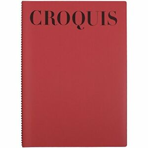 Maruman Sketchbook Croquy Book Standard A4 Red S231 A - 01 japan