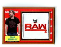 WWE Dean Ambrose 2017 Topps Heritage Bronze Raw Com Patch Relic Card SN 76 / 99
