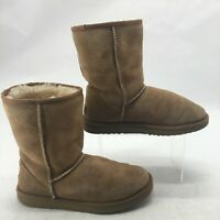 UGG Australia Womens 8 Classic Short Winter Boots Chestnut Suede Sheepskin 5825