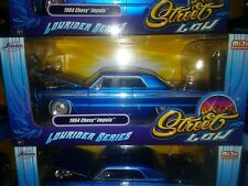 1964 Chevy Impala Die-cast Car 1:24 Jada Toys Lowrider 8 inch Blue Spoke Rims