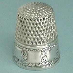 Unusual Antique Sterling Silver Thimble by Webster Co. * Circa 1900