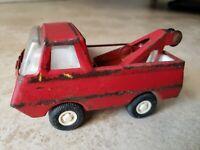Vintage Metal Tonka Wrecker Tow Truck Mound Minn Rare Red Color!
