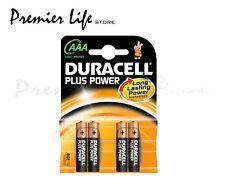 DURACELL MN2400 AAA Plus Potenza Lr03 Pile Alcaline-confezione da 4