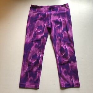 Under Armour Purple Tie Dye Print Crop Legging Sz S A2452