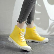 1Pair Woman Rain Boots Ankle Waterproof Solid Color Shoes Spring Autumn Non-Slip
